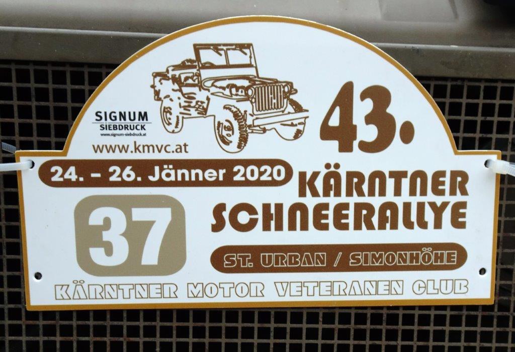 43. Kärntner Schneerallye Jänner 2020